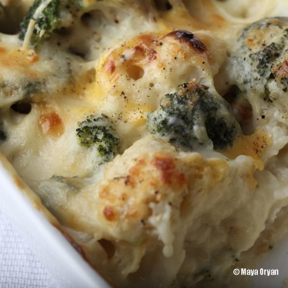 Broccoli and Cauliflower Gratin   mayasingredients